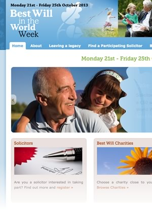best will in the world website design homepage
